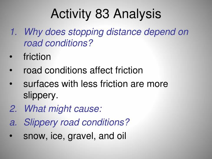 Activity 83 analysis