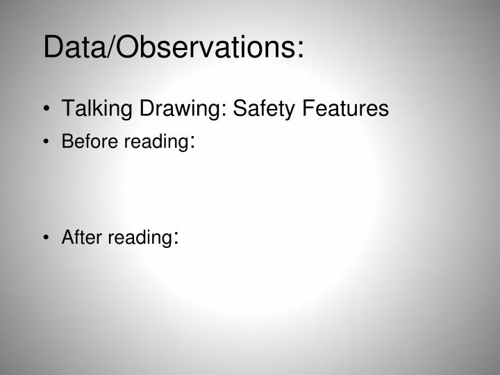 Data/Observations: