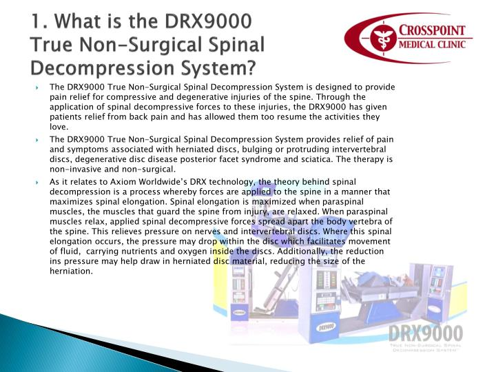 1. What is the DRX9000