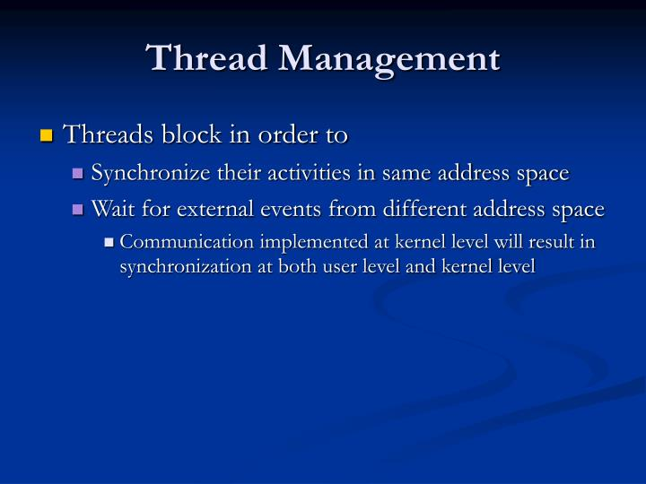 Thread Management