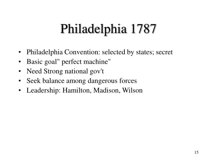 Philadelphia 1787
