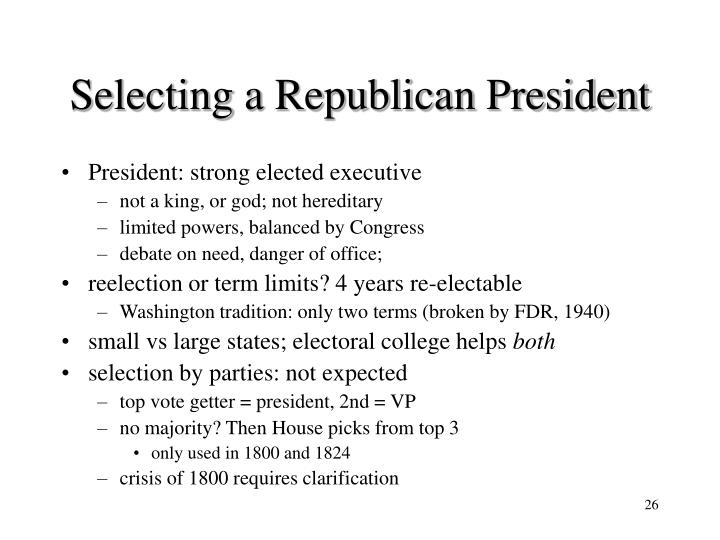 Selecting a Republican President