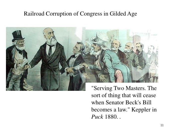 Railroad Corruption of Congress in Gilded Age
