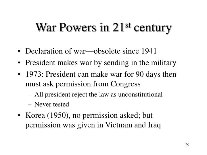 War Powers in 21