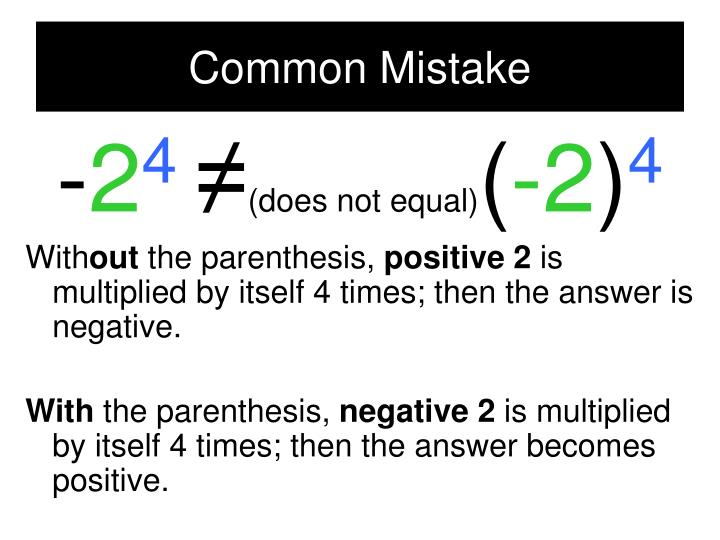 Common Mistake