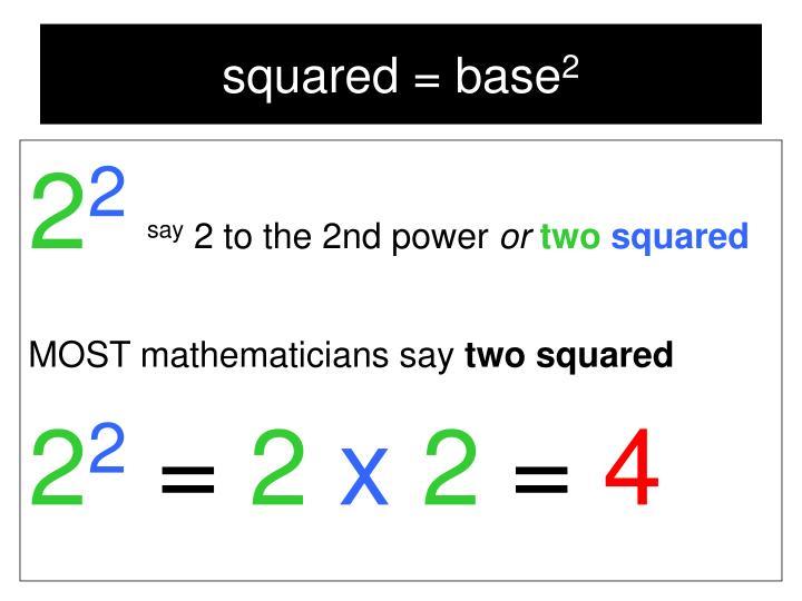 squared = base