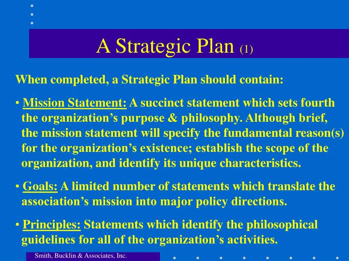 A Strategic Plan