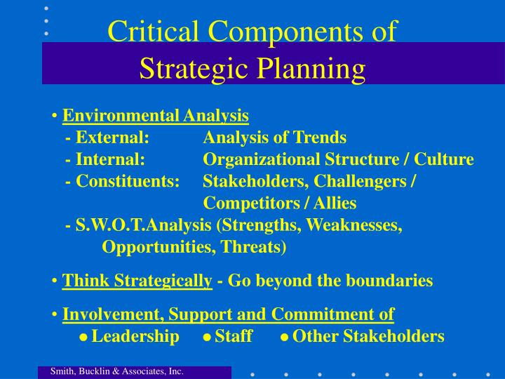 Critical Components of