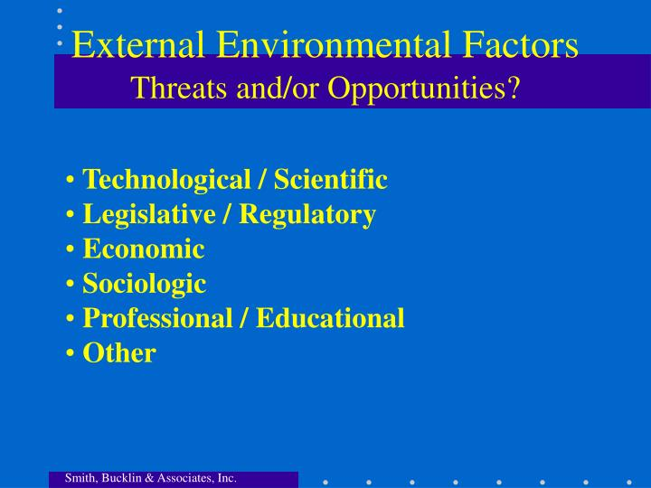 External Environmental Factors