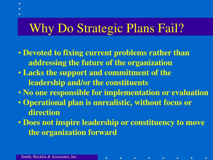 Why Do Strategic Plans Fail?
