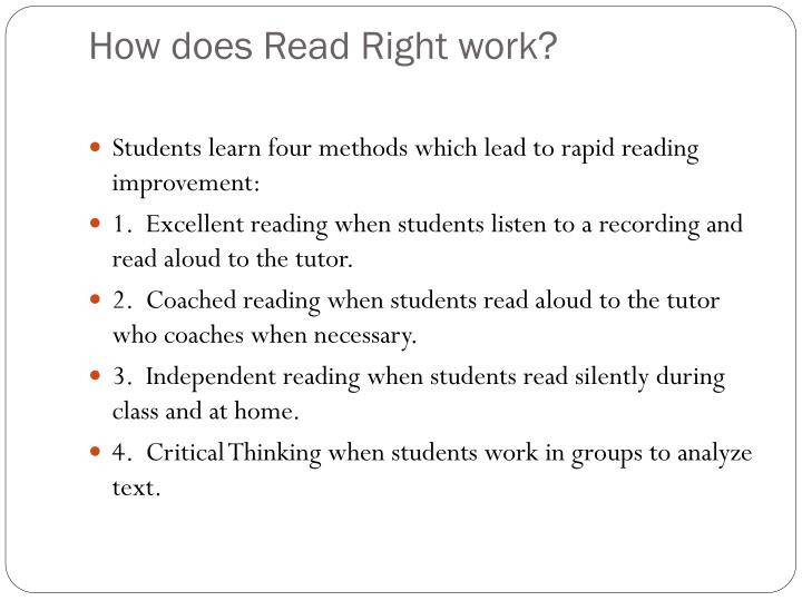 How does Read Right work?