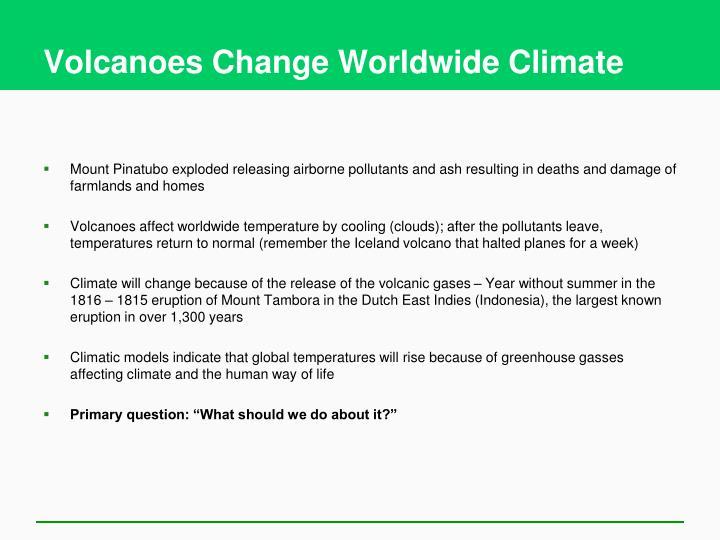 Volcanoes Change Worldwide Climate