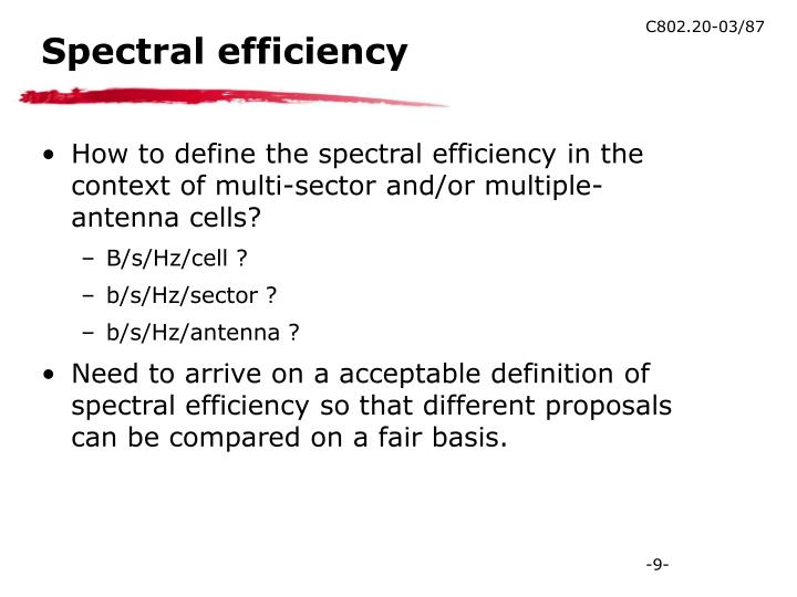 Spectral efficiency