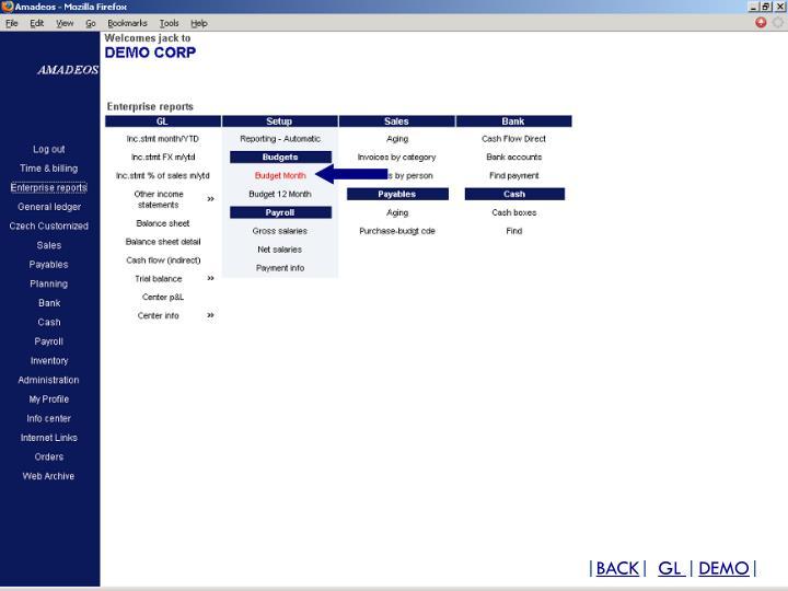 GL Main menu
