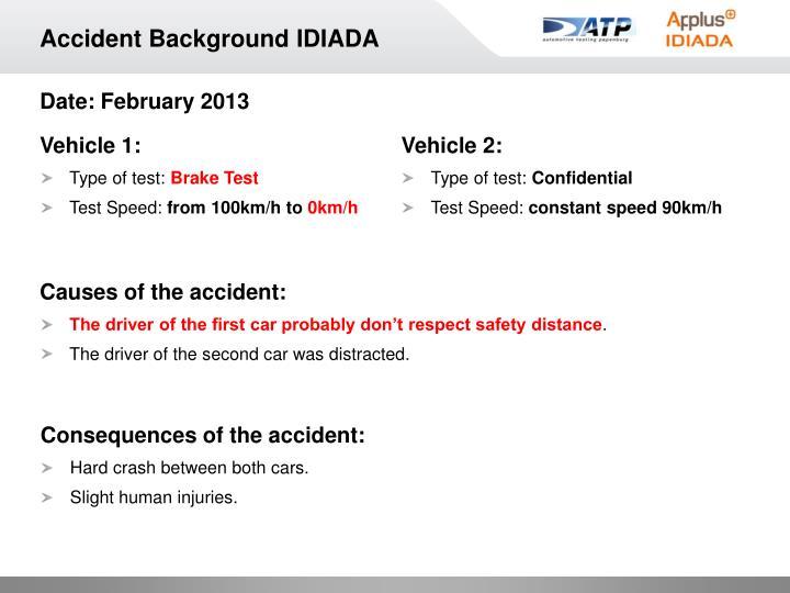 Accident Background IDIADA