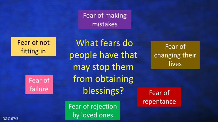 Fear of making mistakes
