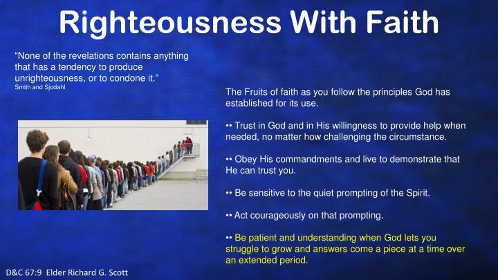 Righteousness With Faith
