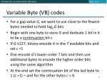 variable byte vb codes
