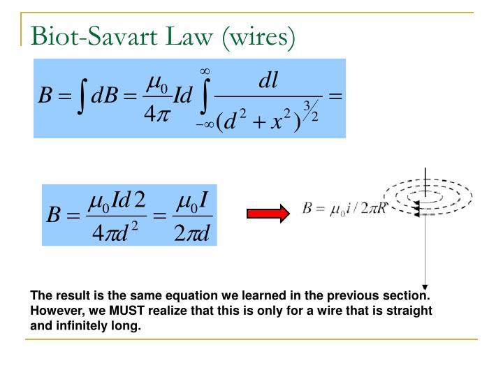Biot-Savart Law (wires)