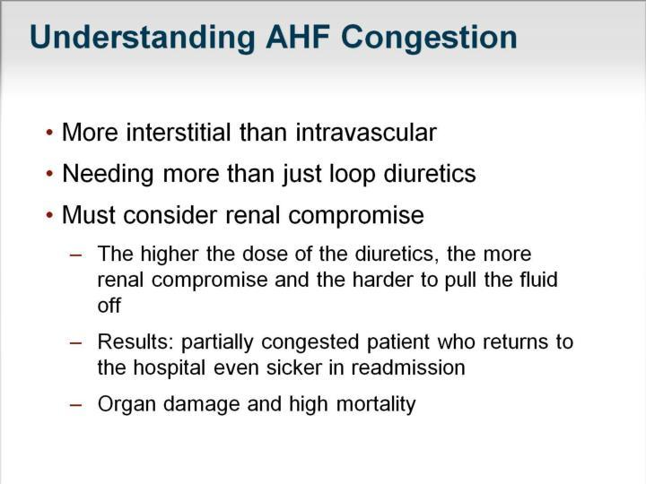 Understanding AHF Congestion