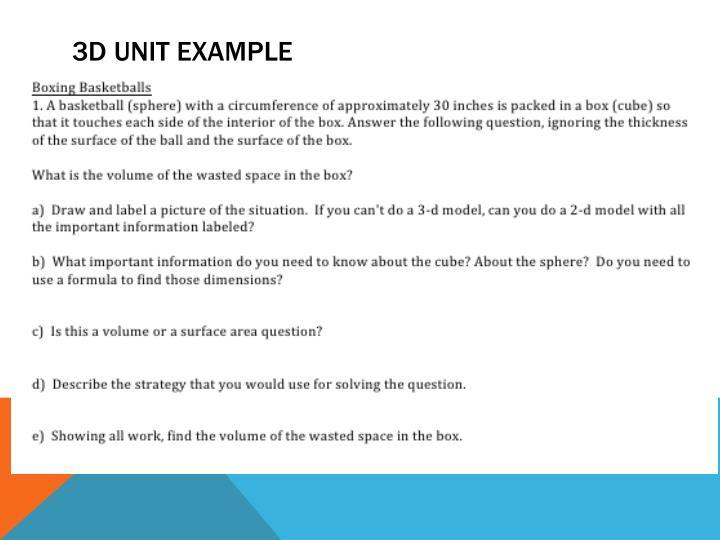 3d Unit example