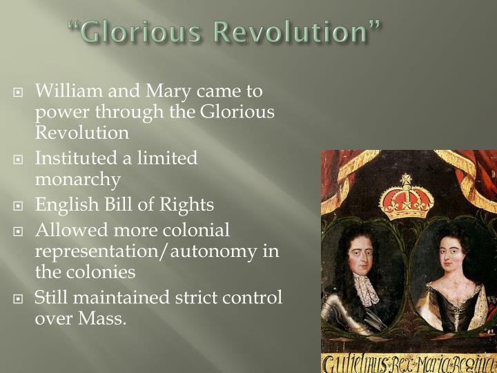 """Glorious Revolution"""