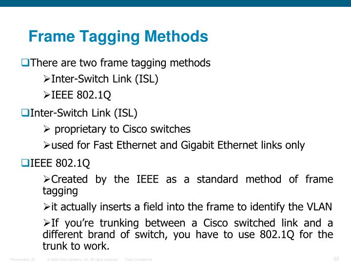 Frame Tagging Methods