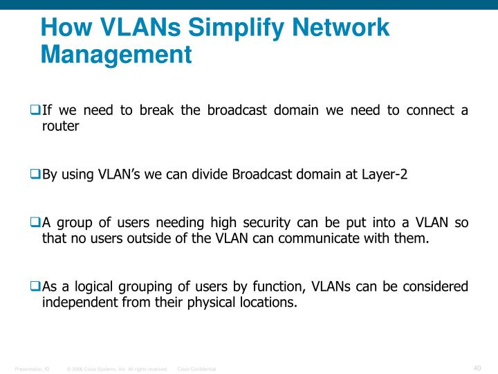 How VLANs Simplify Network Management