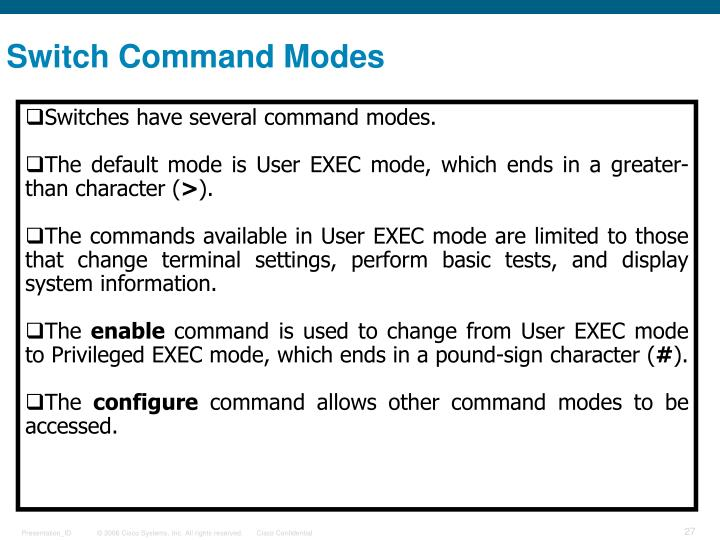 Switch Command Modes