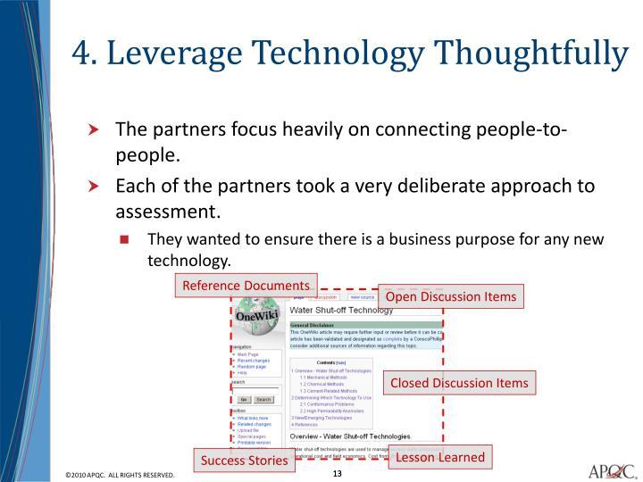 4. Leverage Technology Thoughtfully