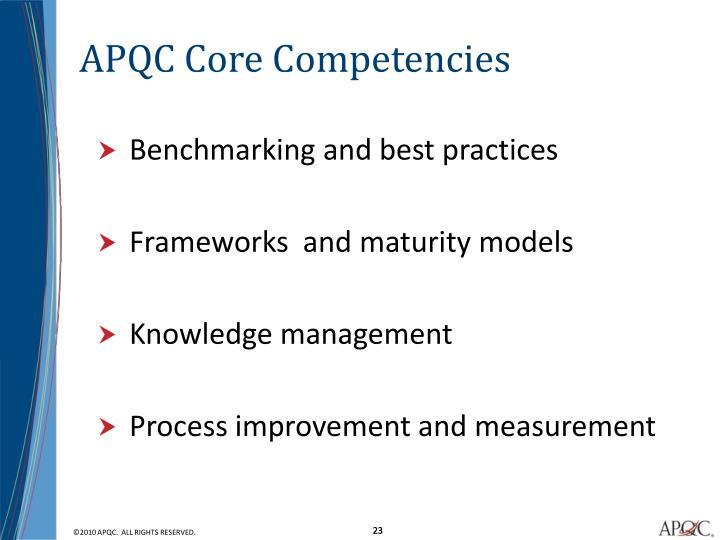 APQC Core Competencies