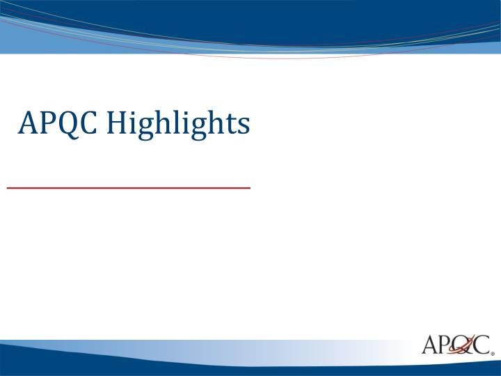 APQC Highlights