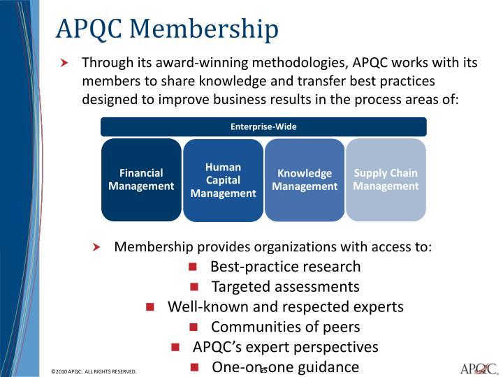 APQC Membership