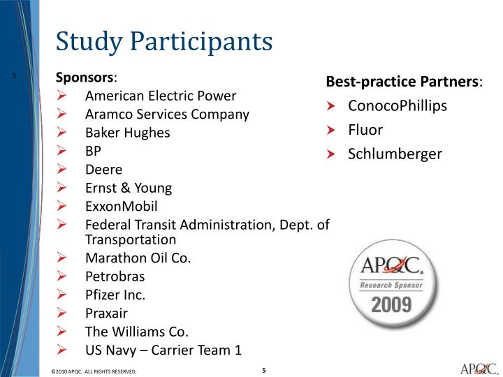 Study Participants