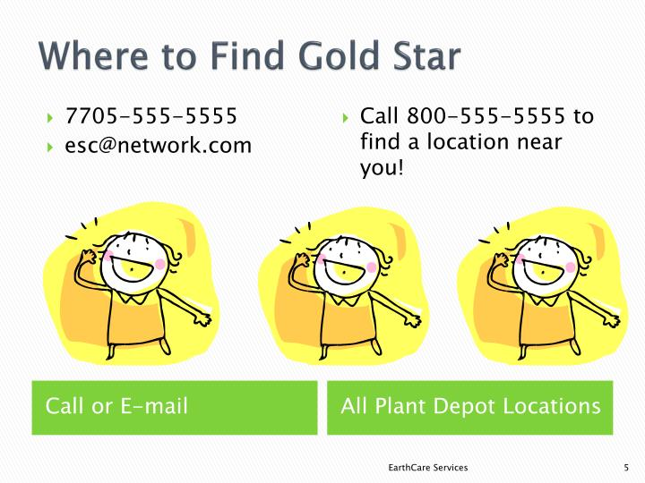 Where to Find Gold Star