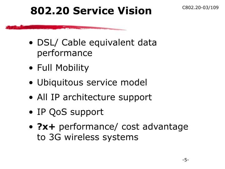 802.20 Service Vision