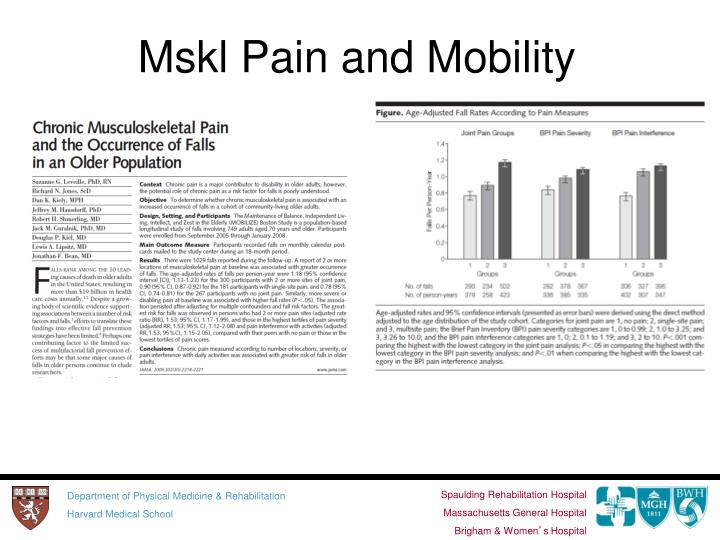 Mskl Pain and Mobility