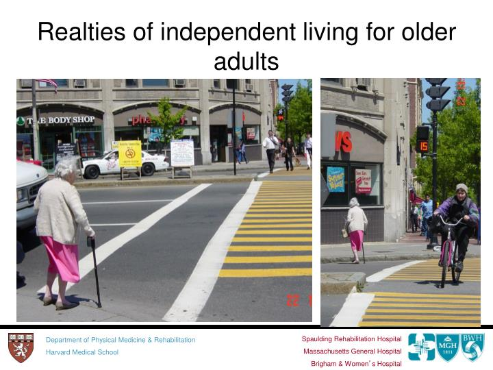 Realties of independent living for older adults