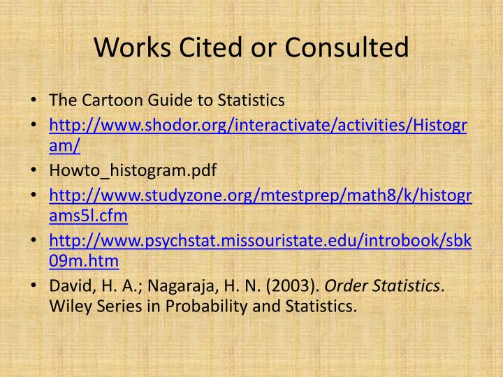 Works Cited or Consulted