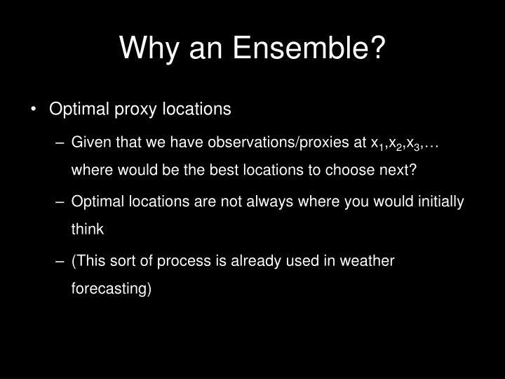 Why an Ensemble?