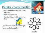 details characteristics