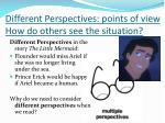 different perspectives points of view how do others see the situation
