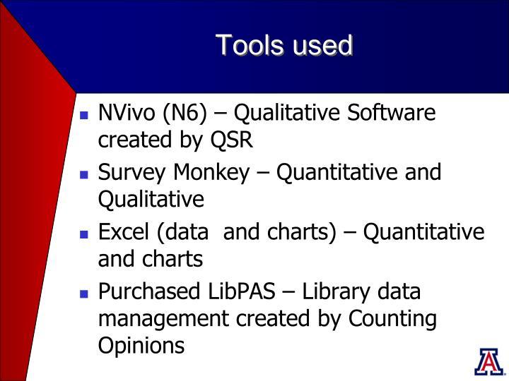 Tools used