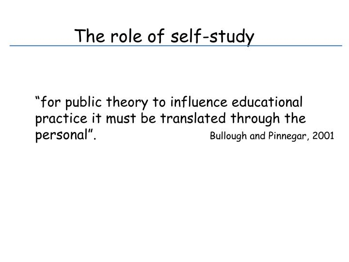 The role of self-study