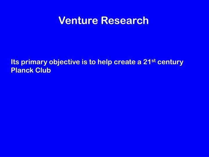 Venture Research