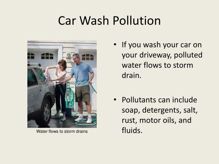Car Wash Pollution