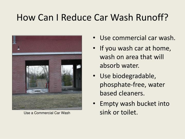 How Can I Reduce Car Wash Runoff?