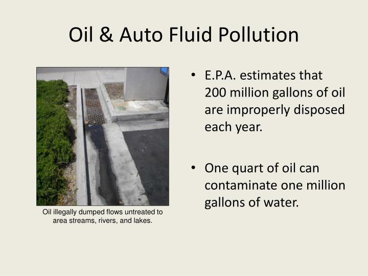 Oil & Auto Fluid Pollution