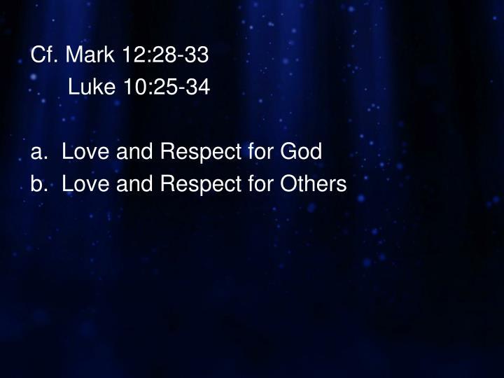 Cf. Mark 12:28-33