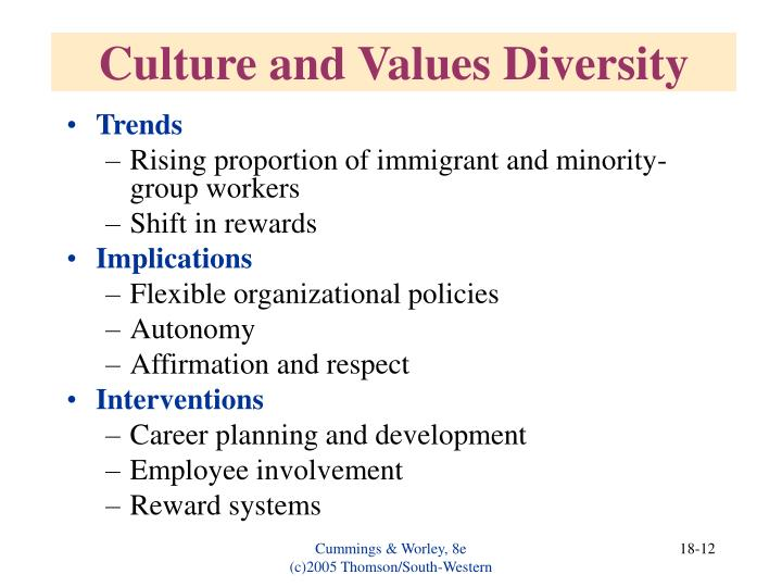 Culture and Values Diversity